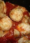 鶏団子のトマト煮込み