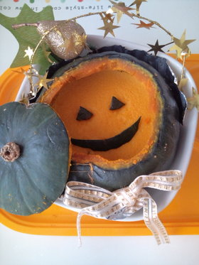 ハロウィン♪簡単かぼちゃプリン♪