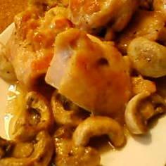 チーズ風味★鶏もも肉とマッシュルーム炒め
