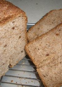 HBで♡全粒粉100%のくるみごまパン