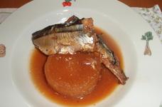 秋刀魚と大根のこっくり煮(圧力鍋使用)