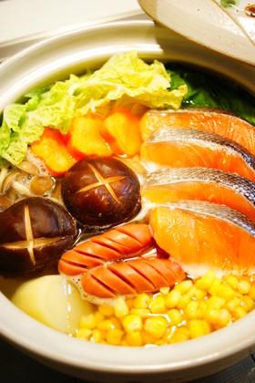 ✿鮭と野菜の塩バター鍋✿