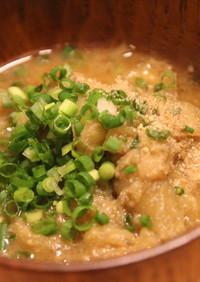 秋茄子の味噌汁。