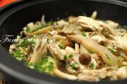 タジンでヘルシー♪きのこと鶏の蒸し煮の写真