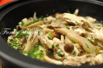 タジンでヘルシー♪きのこと鶏の蒸し煮