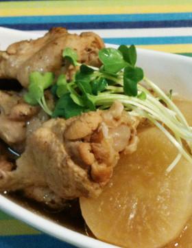 圧力鍋で♪トロトロ鶏手羽と大根の煮物