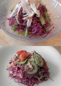 紫キャベツの醤油ドレッシング サラダ