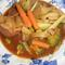 ビーフシチューの素でポークトマトスープ