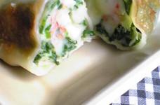チーズ入り☆にら海老餃子