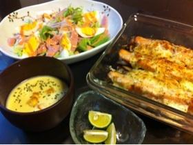 ☆簡単☆秋鮭とキノコのマヨオーブン焼き