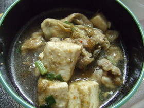 牡蠣と豚肉の汁物