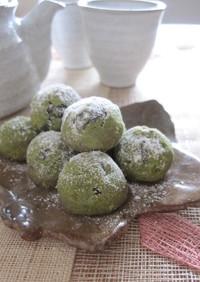 黒豆と抹茶の米粉スノーボール