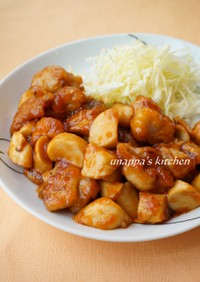 鶏肉とエリンギの甘酢ケチャップ炒め