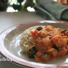 南瓜と豆のカレー