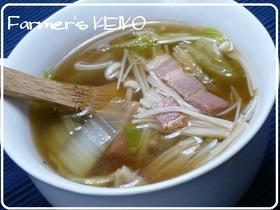【農家のレシピ】白菜とエノキのスープ