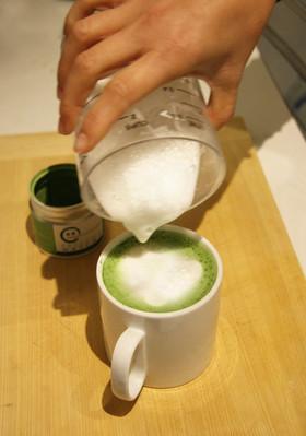 自宅で毎日、抹茶ラテ!