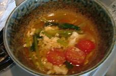 奇跡の一杯★小松菜とトマトのスープ