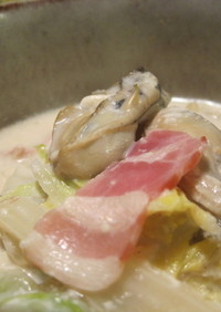 あったか♪白菜と牡蠣の和風ミルク煮