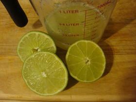 ライムを使って手作りポン酢