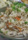 鶏皮ゴボウ炊き込みご飯