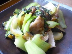 青梗菜と茄子と豚肉のオイスターソース炒め