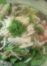 白菜と豚肉ときのこのお鍋