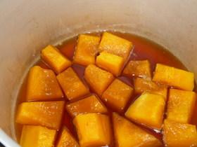 圧力鍋でかぼちゃの煮物