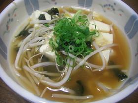 私のダイエット食*豆腐もやしスープ