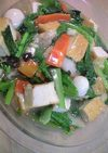 厚揚げと小松菜のボリューム八宝菜