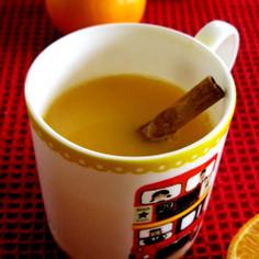 ホットオレンジジュース♪
