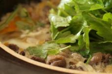 牛肉の柳川鍋。