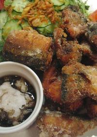 ♡秋刀魚の唐揚げ おろしポン酢で・・♡
