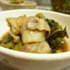 高菜と豚肉の炒め煮