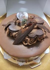チョコレートケーキ(ガナッシュ仕立て)