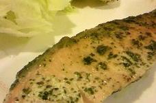 生鮭のハーブオイル漬け