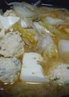 ひとり鍋♪味噌チゲ風味