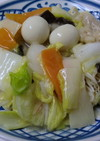 八宝菜であんかけ温麺