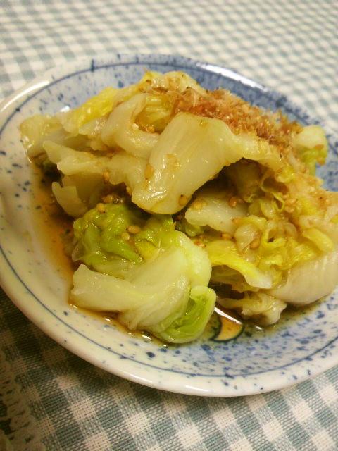 パパ大感激!!☆簡単旨い白菜のおひたし☆