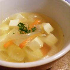 豆腐入り☆コンソメスープ