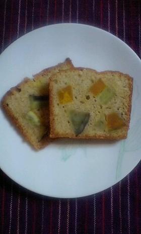 さつまいもとかぼちゃのパウンドケーキ
