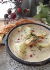 帆立と蕪のマスタードクリーム煮