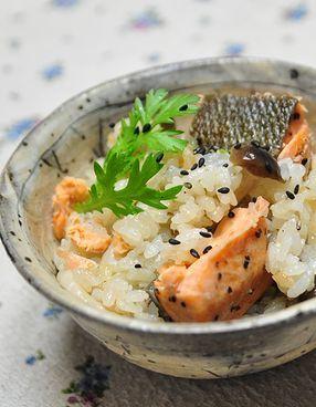 お茶漬けの素de 鮭の炊き込みご飯