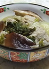 簡単!チンゲン菜と椎茸の熱々つみれ煮