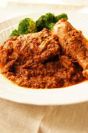 鶏肉のバルサミコ煮込み マスタード風味