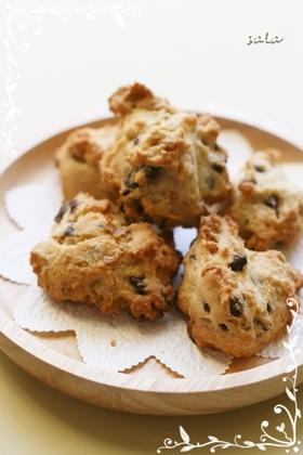 チョコ&クルミ入りドロップクッキー♪