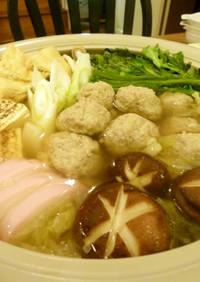 簡単♪生姜沢山しっとり柔らか肉団子鍋