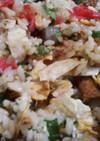 バジル・ミツバ・牛蒡と鯖缶の散らし寿司★