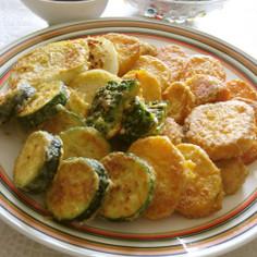 簡単♪節約☆夏野菜でピカタ