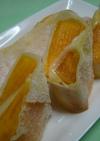 柿とチーズの春巻きパイ