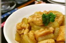 鶏胸肉と大根の甘辛煮♪柚子胡椒風味